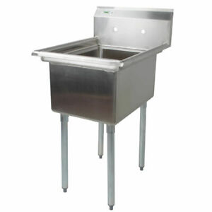 22 Stainless Steel One Compartment Commercial Restaurant Mop Prep Sink Utility