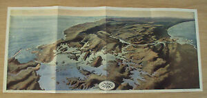 Antique 1913 Map The Panama Canal Bird S Eye View Panoramic