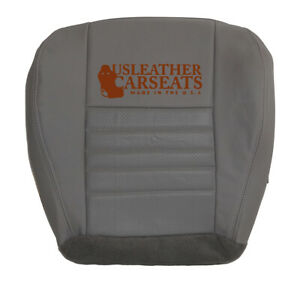 1999 2000 2001 2002 2003 2004 Ford Mustang Driver Bottom Leather Seat Cover Gray