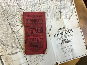 Vintage Newark Nj Map Guide Book To Streets Of Newark Cities Map