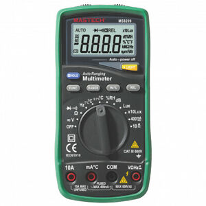 Mastech Ms8209 5 In 1 Multimeter Lux Sound Level Humidity temperature true Rms