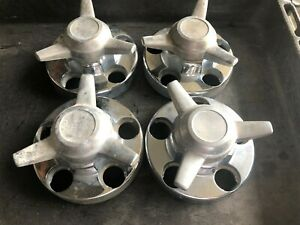 Set Of 4 1988 1999 Chevy Gmc Chrome Center Caps 5 Lug 46254 With Spinners