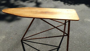 Antique Vintage Wooden Ironing Board National Washboard Co Full Size 53 X 14