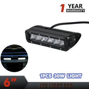 6 Inch 30w Led Waterproof Work Light Bar Combo Lights For Car Truck Suv G