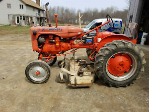 Allis Chalmers C Antique Tractor With Mowing Deck Used Farm Tractor