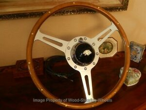 Jaguar Xk120 Wood Steering Wheel Derrington 17 Original Vintage 1950 S Nos New