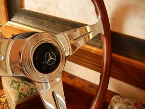 Mercedes 280 Sl Wood Steering Wheel Nardi 15 3 Old Type 1970 S Horn Button Nos