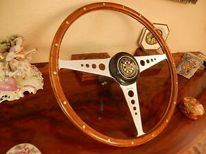 Jaguar E Type Xke Wood Steering Wheel 1961 1962 Vintage 16 Nos Flawless
