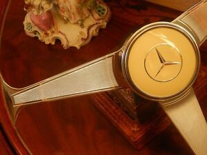 Mercedes 190 Sl W121 Wood Steering Wheel Nardi 300 Sl Gullwing Horn Button New