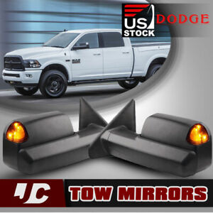 For 02 08 Dodge Ram 1500 Power Heated Turn Light Trailer Towing Mirrors L r
