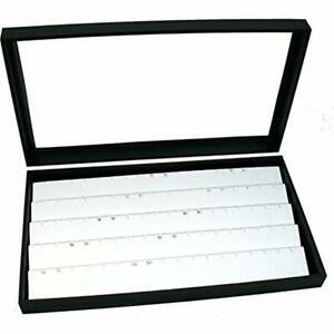 Jewelry Box Display Case Holds 45 Pairs Of Earrings White New Home Kitchen
