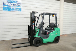 2012 Mitsubishi Fg18n 3 500 Pneumatic Tire Forklift Dual Fuel 3 Stage S s