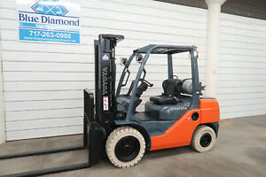 2011 Toyota 8fgu30 6 000 Pneumatic Tire Forklift Lp Gas 3 Stage 4 Way Hyd