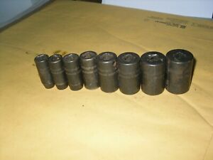 Snap On 8pc 3 8 Dr 6pt Sae 5 16 13 16 Semi Deep Impact Socket Set Usa