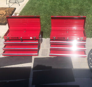 Great Pre owned Matco 3 Drawer Bench Tool Box W lock Key