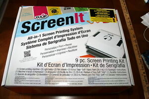 Tulip Screenit All in 1 Screen Printing System 9 Piece Kit New