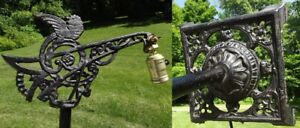 Antique Art Deco Bridge Floor Lamp Victorian Beautiful Cast Iron Vintage 10s 20s