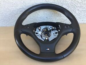 1036 Bmw E70 X5m X5 X6 X6m Oem Leather Steering Wheel Paddle Shifters Nice