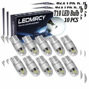 W5w 194 T10 Led Light Bulb White 921 168 Bulbs 10pcs