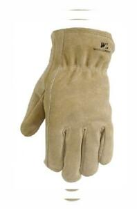 Leather Winter Work Gloves 100 gram Thinsulate Large Pecan Brown