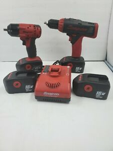 Snap On Ct4418 3 8 18v Cordless Impact Wrench Combo Set