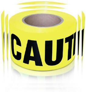 Xfasten Caution Tape Roll Non Adhesive Large 3 X 100 Ft Yel