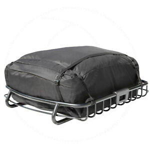 Fit Jeep Top Roof Rack Cargo Luggage Basket Travel Storage Bag Carrier