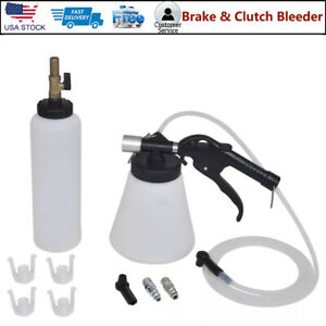 Portable Pneumatic Air Pressure Kit Brake And Clutch Bleeder Valve System Tools