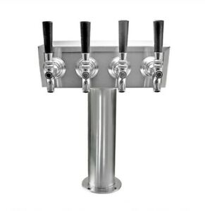 Taprite Stainless Steel 4 Tap Draft Beer T tower glycol Lines