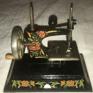 1900s Antique Mini Toy Sewing Machine Rare Made In Germany British Zone