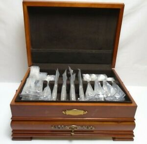 Grande Baroque By Wallace Sterling Silver Flatware Set For 8 Service 43 Pieces