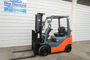 2014 Toyota 8fgu15 3 000 Pneumatic Tire Forklift Lpg Fuel 3 Stage S s
