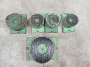Lot Of 5 Used 4 Ips Serrated Pipe Fusion Machine Heater Plates