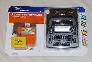 New Brother P touch Pt 1890w Labeler 2 Tapes Thermal Label Maker Printer