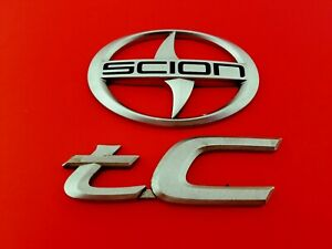 05 06 07 08 09 10 Scion Tc Rear Trunk Emblem Logo Badge Sign Symbol Set Oem 2007