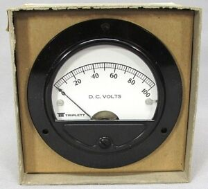 Vintage Triplett 0 100 Dc Voltage Gauge Volt