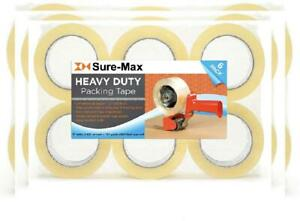 Sure max 6 Rolls Heavy duty Shipping Packing Tape 2 X 120 6