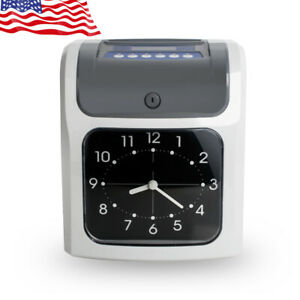 New Electronic Employee Analogue Time Recorder Time Clock W card Monthly weekly