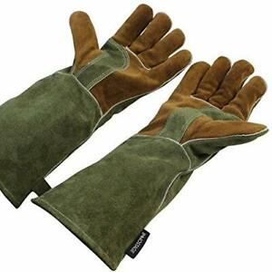 Mig stick Welding Gloves pure Leather Heat Fire Resistant Forge Gloves Oven Mi