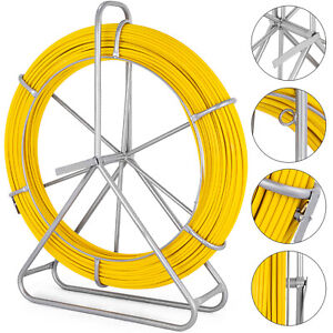 6mm 200m Fiberglass Wire Cable Fish Tape Puller Yellow Pulle Reel Great On Sale