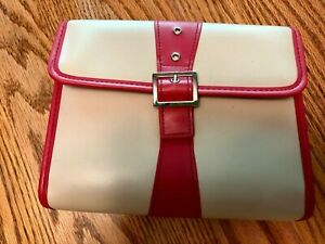 Franklin Covey Compact Binder Women s Pink Tan W buckle 149 Msrp