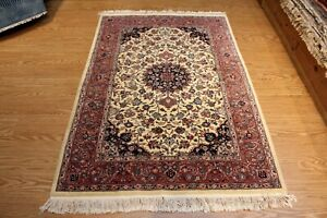 4 X 6 Persian Design Handmade Hand Knotted Fine Quality Wool Rug