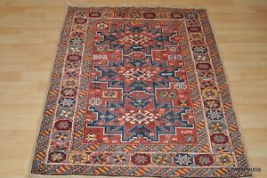 On Sale Caucasian Prayer Anatolia Rug 3x5 Copper Color Brown Shirvan Design