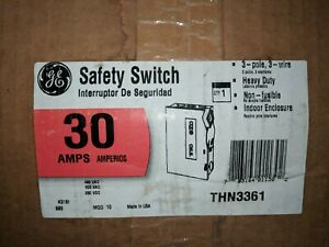 New In Box Ge General Electric Thn3361 Heavy Duty Safety Switch 30a