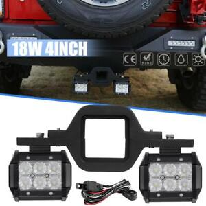 Tow Hitch Mount Bracket Backup Reverse Led Light Set For Offroad Truck Jeep Ford