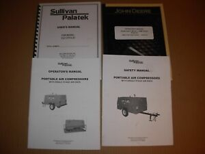 Sullivan Palatek D210phjd Air Compressor Owner s Operator s Engine Manuals