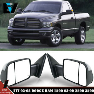 Tow Mirrors Power Heated Turn Signal For 02 2008 Dodge Ram 1500 03 09 2500 3500
