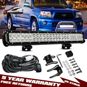 For Toyota Tacoma 2005 2015 Bull Bar 20 Led Bumper Light Bar Offroad Combo Kit