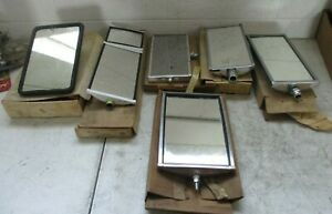 Lot Of 6 Vintage Truck Hotrod Mirrors Nos Free Shipping