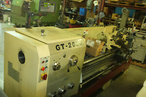 Used 20 X 80 Gmc Bed Engine Lathe Gt 2080 Digital Readout 4 1 8 Spindle Late
